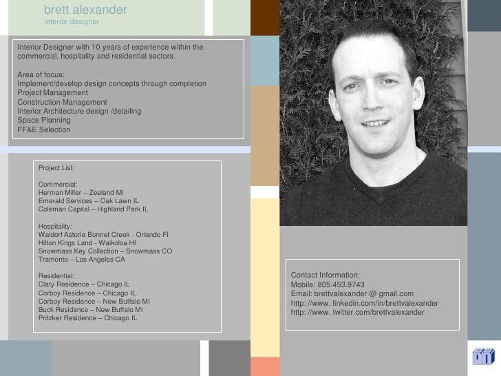 brett alexander<br />interior designer<br />Interior Designer with 10 years of experience within the commercial, hospitali...