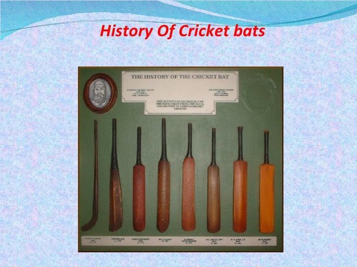 History Of Cricket bats