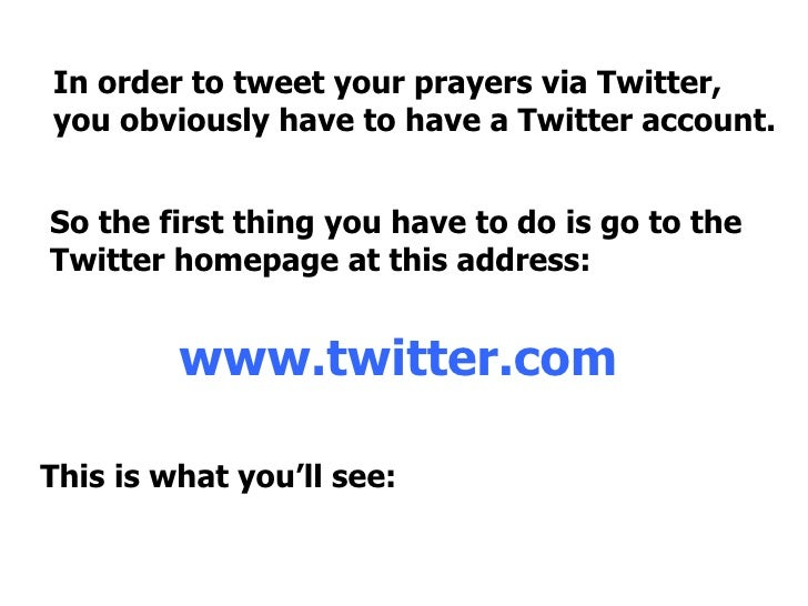 Welcome to Tweet Your Prayers
