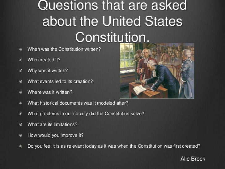 the events leading to the creation of the constitution of the united states The declaration of independence an analytical view • knows major historical events that led to the creation of limited government in the united states (1781), state constitutions and charters, united states constitution (1787) and the bill of rights (1791) in america) 3.