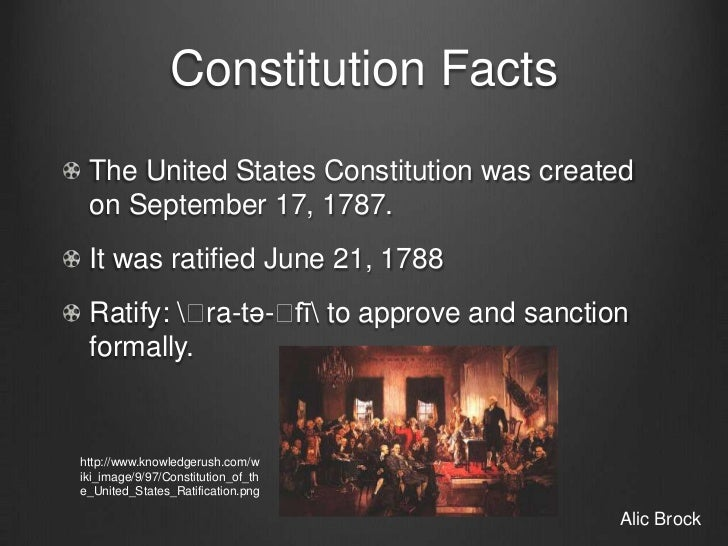 the benefits of the ratification of the constitution to the united states