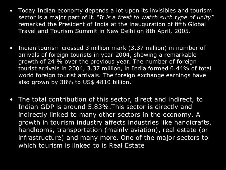 indian economy tourism Determinants of tourism demand in india  abstract: tourism as an important sector of the indian economy with considerable contribution in terms.