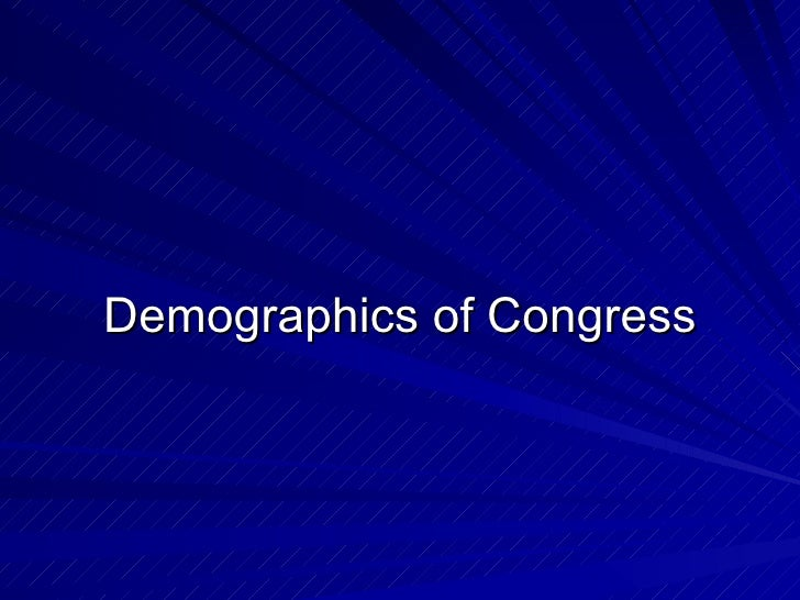 Demographics of Congress