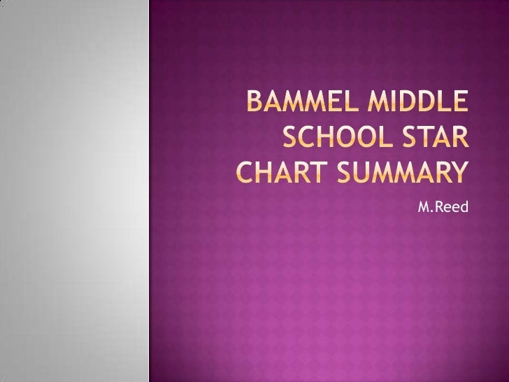 Bammel Middle School Star Chart Summary<br />M.Reed<br />