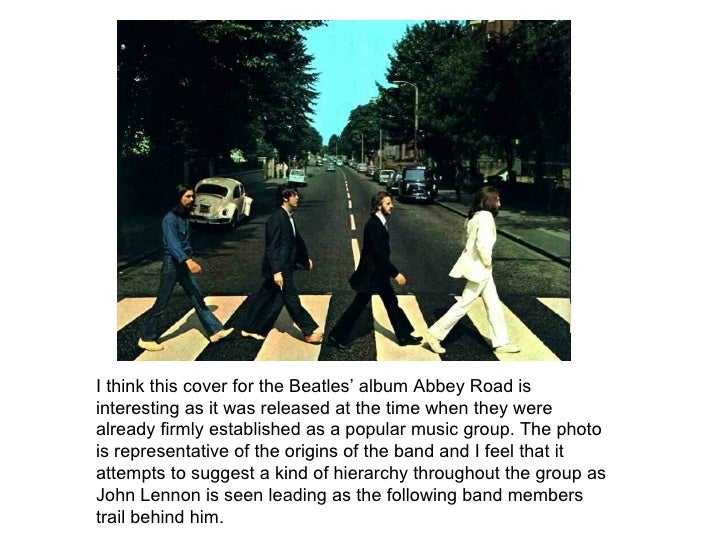 I think this cover for the Beatles' album Abbey Road is interesting as it was released at the time when they were already ...