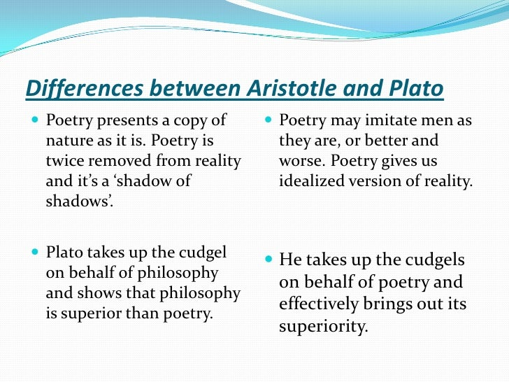 aristotle plato comparison essay In this paper both the four causes of aristotle and the making of the cosmos that plato discusses in the timaeus are discussed.