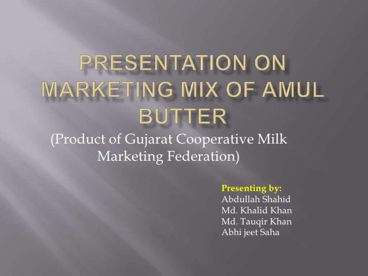 Amul Butter Marketing Mix