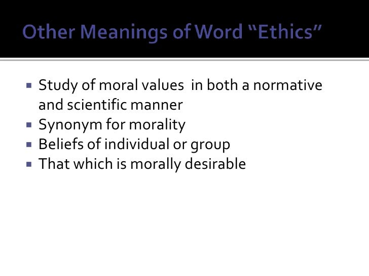 Moral Values