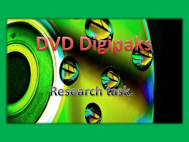DVD Digipaks<br />Research task.<br />