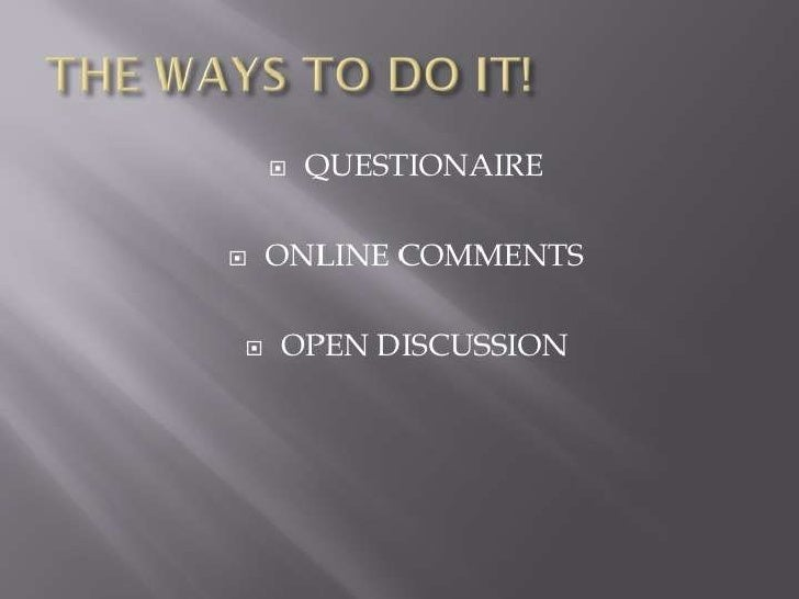 What have you learnt from your audience feed back? Slide 2