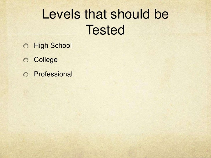 schools should not randomly drug-test students essay If you randomly drug test a student and they fail, and that student had not been doing well in school, then the best way to improve their performance is to find treatment and/or counseling for them.