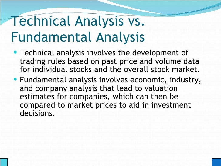 Technical analysis in forex