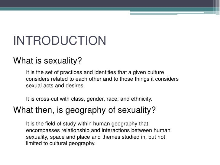 Sexualities and definitions