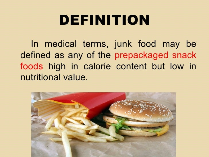 Junk food for Cuisine meaning