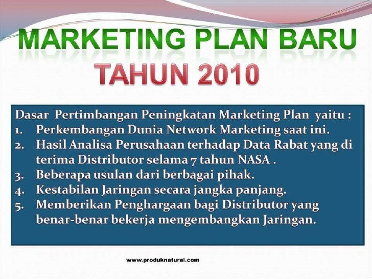 Marketing Plan NASA