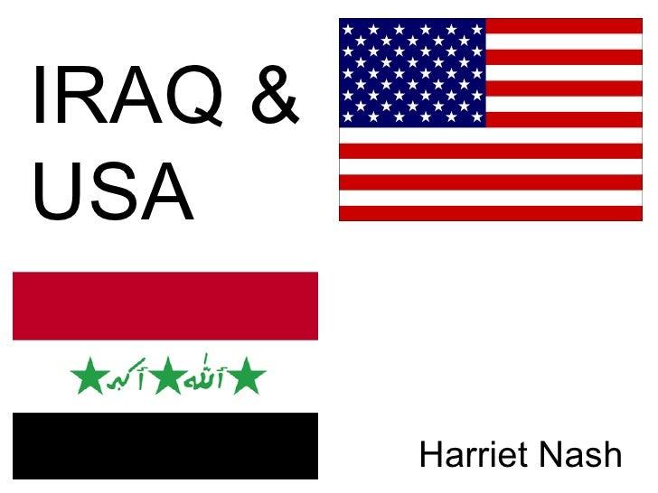 IRAQ & USA   Harriet Nash