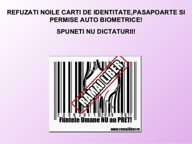 REFUZATI NOILE CARTI DE IDENTITATE,PASAPOARTE SIREFUZATI NOILE CARTI DE IDENTITATE,PASAPOARTE SI PERMISE AUTO BIOMETRICE!P...