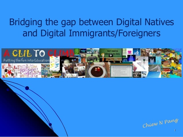 Bridging the gap between Digital Natives and Digital Immigrants/Foreigners 1