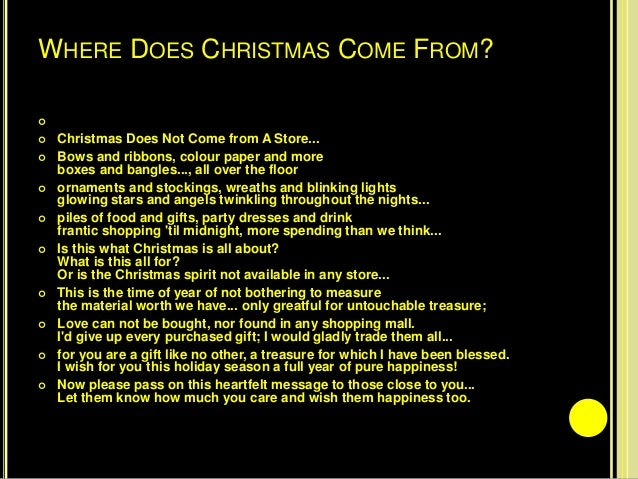 where does christmas come from - Where Does Christmas Come From