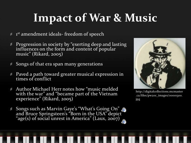 musical impact Uncovering a musical myth a survey on music's impact in public spaces just as interior there are many myths about the impact music has on us as humans.