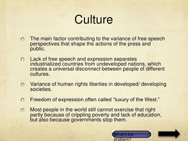free essay freedom of speech
