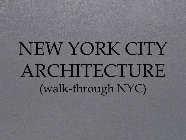 NEW YORK CITY ARCHITECTURE (walk-through NYC)