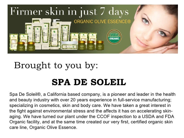 Spa De Soleil®, a California based company, is a pioneer and leader in the health and beauty industry with over 20 years e...