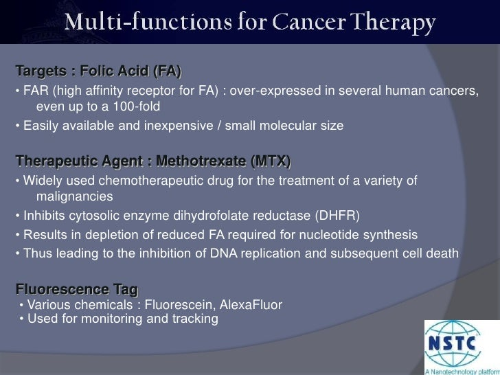 Targets : Folic Acid (FA)<br />• FAR (high affinity receptor for FA) : over-expressed in several human cancers, even up to...
