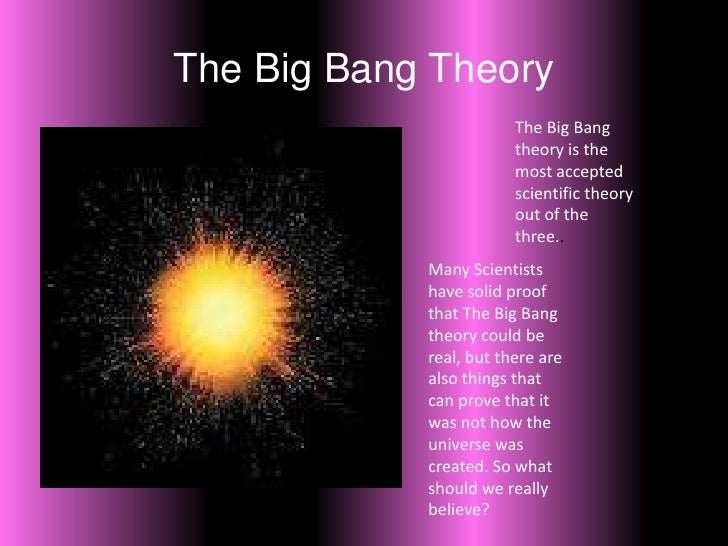 Big bang theory summary