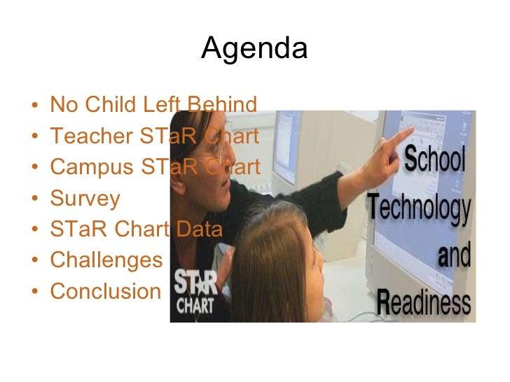 Agenda <ul><li>No Child Left Behind </li></ul><ul><li>Teacher STaR Chart </li></ul><ul><li>Campus STaR Chart </li></ul><ul...
