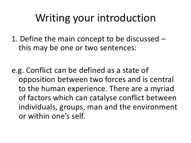 conflict essay writing introduction<br > 6
