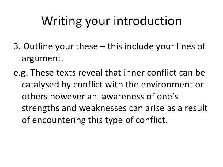 conflict essay writing writing your introduction<br