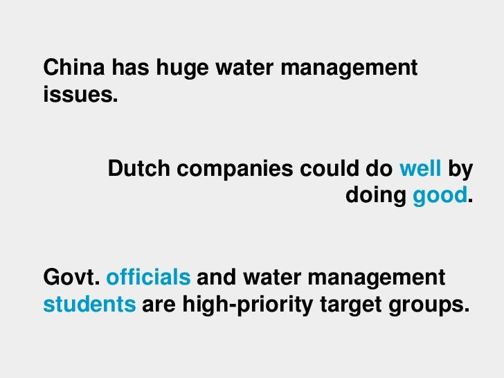 Water management in China