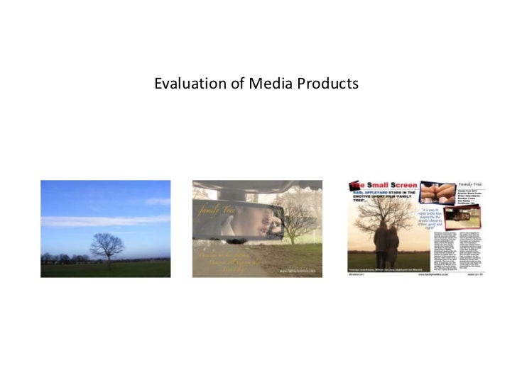 Evaluation of Media Products<br />