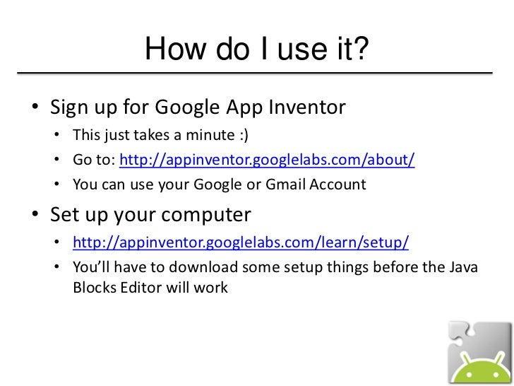 Android App Inventor - Develop Android App Without Coding