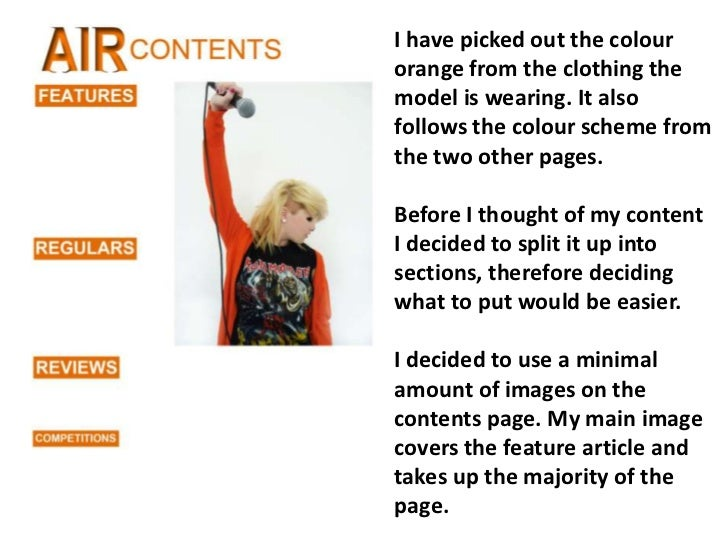 I have picked out the colour orange from the clothing the model is wearing. It also follows the colour scheme from the two...