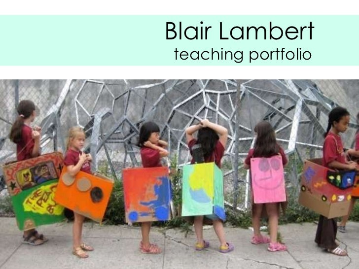 Blair Lambert teaching portfolio