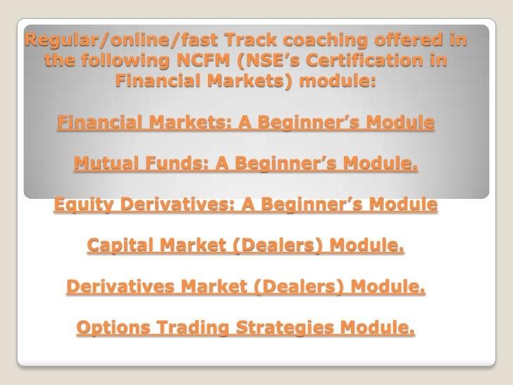 Option trading strategies ncfm
