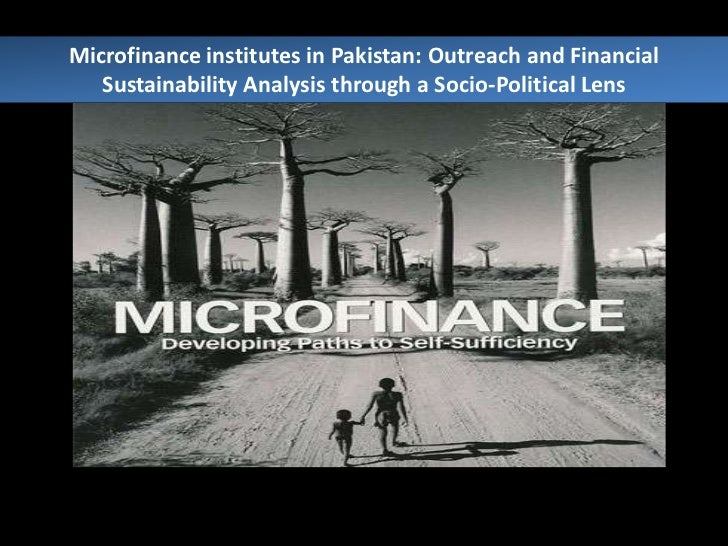 Microfinance institutes in Pakistan: Outreach and Financial Sustainability Analysis through a Socio-Political Lens<br />