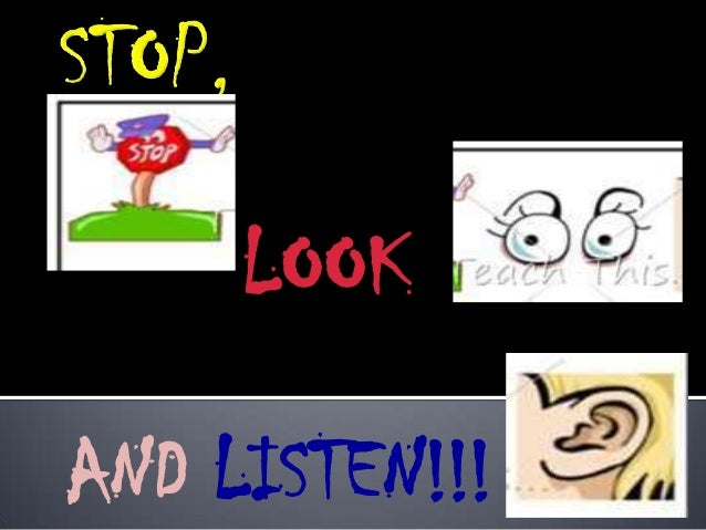 LOOK AND LISTEN!!!