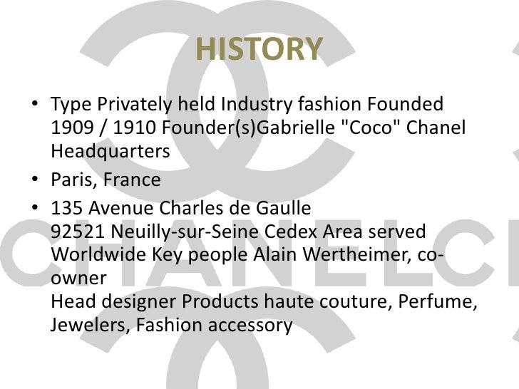 CHANEL brand analyses presentation