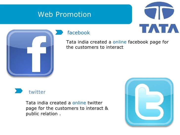 sales promotion of tata motors Consumer sales promotion methods/tools/techniques: to motivate  buy their  motor cycles similarly tata motors provide a large credit facility for nano cars.