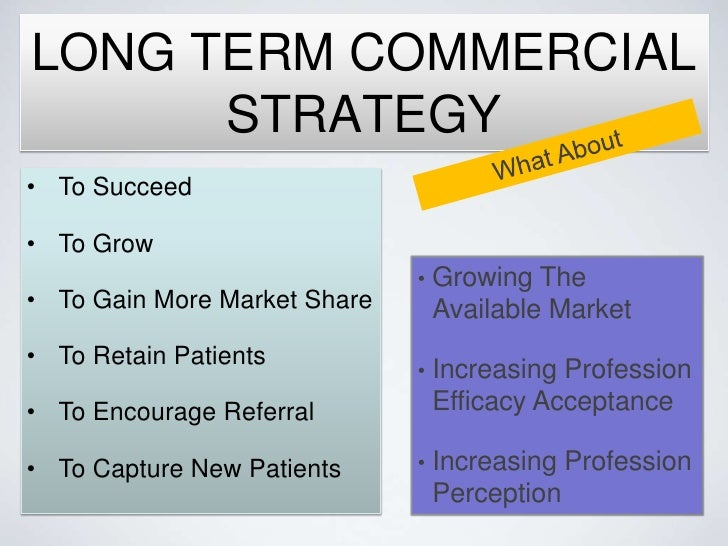 how to write a commercial strategy