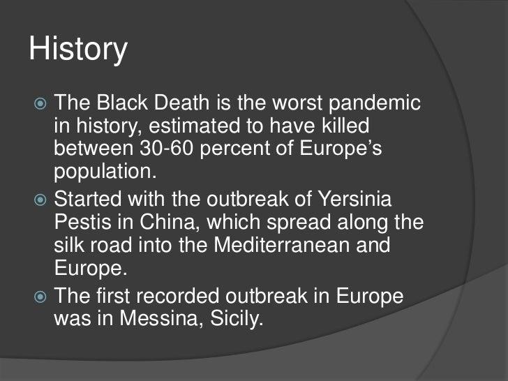 Black death pandemic