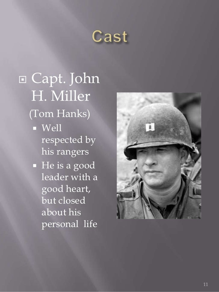 saving private ryan leadership essay Decoding miller the character of protagonist in saving private ryan and his character's connection to today's ongoing discussion of moral character and leadership.