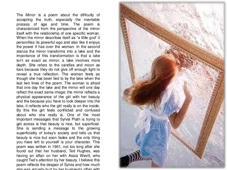 a comparison of the mirror by sylvia plath and barbie in the newsday column