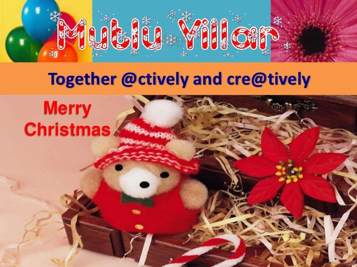 Together @ctively and cre@tively  MerryChristmas