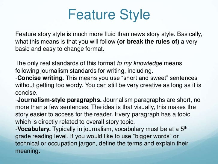 Types of Feature Stories for Journalists