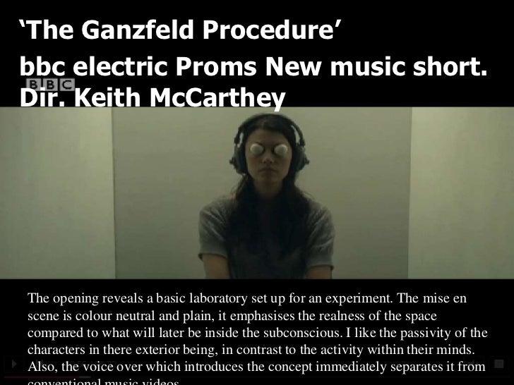 'The Ganzfeld Procedure'bbc electric Proms New music short.Dir. Keith McCartheyThe opening reveals a basic laboratory set ...