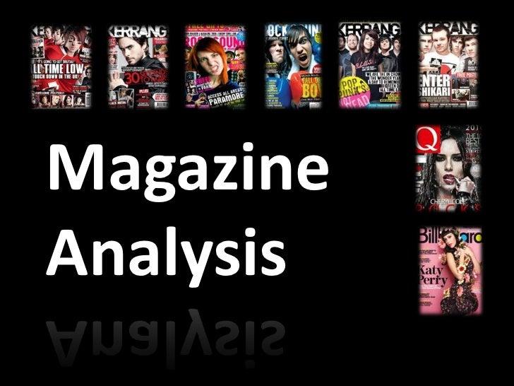 MagazineAnalysis
